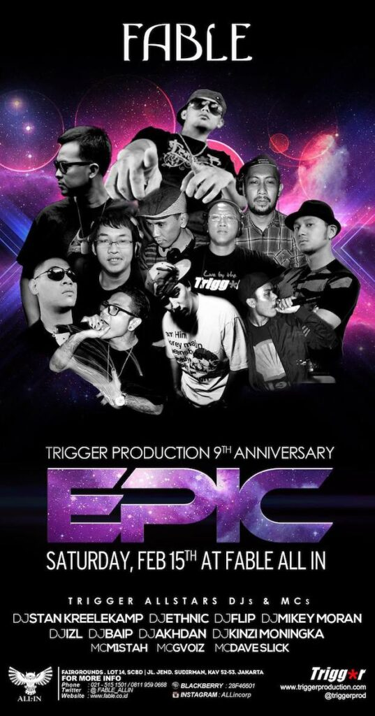 Trigger's 9th Anniversary @ Fable Sat Feb 15h 2014