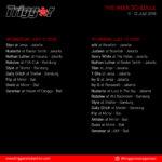 Schedule DJs & MCs 11 – 12 July 2018