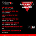 Trigger Talents who has been Nominated at The 2018 Paranoia Awards