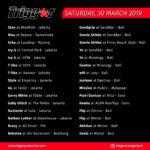 Schedule DJs & MCs 30 March 2019