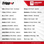 SCHEDULE DJS & MCS 18 JANUARY 2020