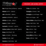 SCHEDULE DJS & MCS 28 JUNE 2019