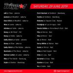 SCHEDULE DJS & MCS 29 JUNE 2019