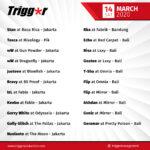 SCHEDULE DJS & MCS 14 March 2020