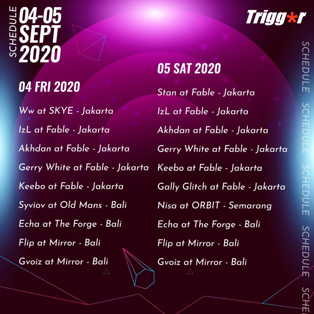 SCHEDULE DJS & MCS 04 – 05 SEPTEMBER 2020